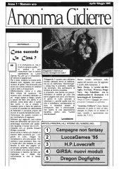 Anonima Gidierre n°1 – Aprile/Maggio 1995