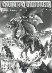 Anonima Gidierre n°13 – Settembre/Ottobre 1997