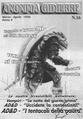 Anonima Gidierre n°16 – Marzo/Aprile 1998