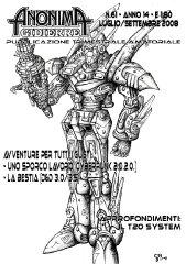 Anonima Gidierre n°61 - Luglio/Settembre 2008 - Disegno di Giorgio Borroni