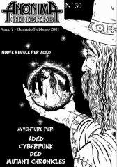 Anonima Gidierre n°30 - Gennaio/Febbraio 2001 - Disegno di Lys